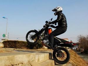 Получился очень интересный  мотоцикл - Yamaha Tricker 250