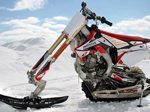 Мотоцикл на гусенице