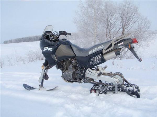 Фотогалерея мотоциклов на гусенице - фото 2