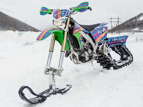 Фотогалерея мотоциклов на гусенице - фото 11