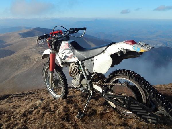 Фотогалерея мотоциклов на гусенице - фото 14