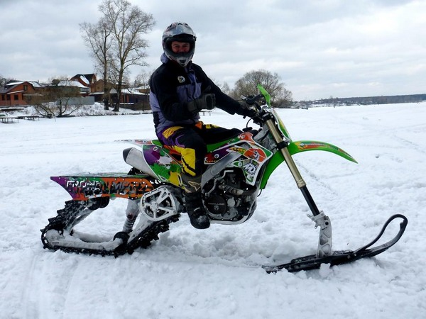 Фотогалерея мотоциклов на гусенице - фото 18