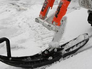 Лыжа заменяет переднее колесо
