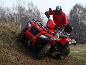 Проходимость и управление квадроциклом Рысь 500