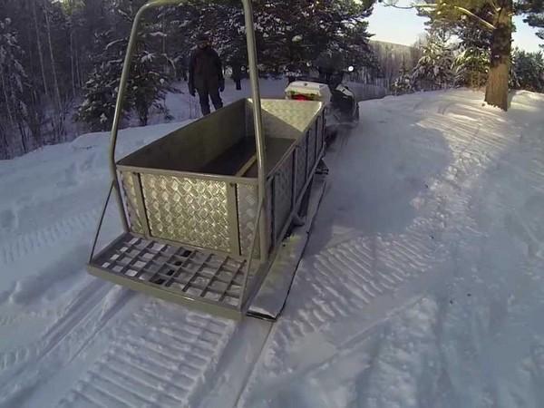 Фотогалерея сани волокуши для снегохода - фото 15