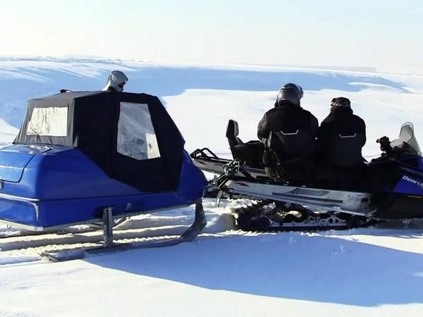 Фотогалерея сани волокуши для снегохода - фото 16