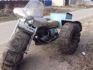 Как сделать самодельный снегоход из мотоцикла
